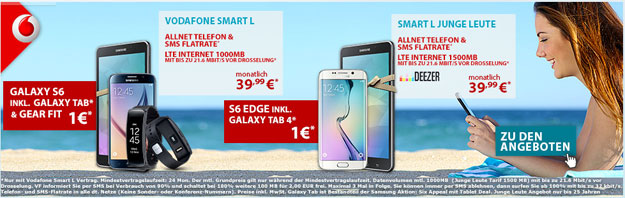 Vodafone Smart L mit Samsung Galaxy S6 & Gear Fit