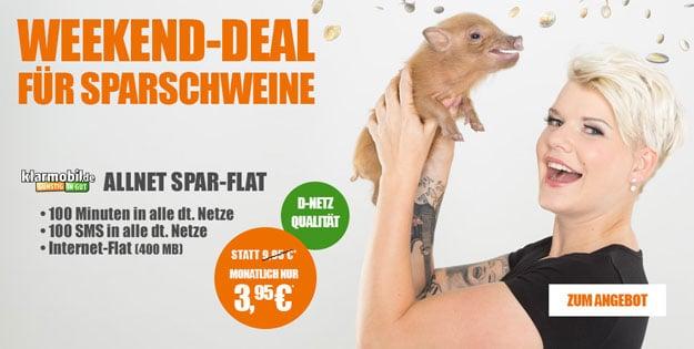Klarmobil Allnet-Starter für 3,95 EUR