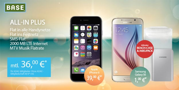 BASE all-in plus mit S6 oder iPhone 6