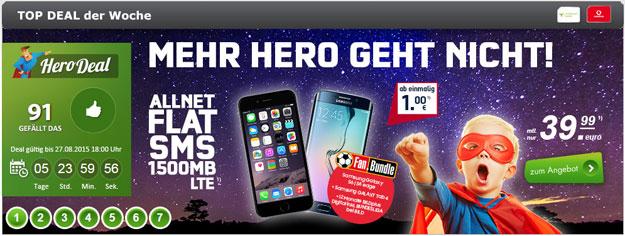 Hero Deal Red 1,5 GB mit Fanbundle