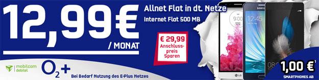 o2 Comfort Allnet mit Handys