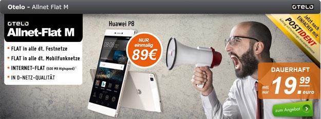 Otelo Allnet Flat M mit Huawei P8