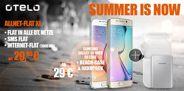 Otelo Allnet Flat XL mit Samsung Galaxy S6