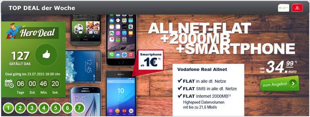 real Allnet Vodafone im Hero-Deal