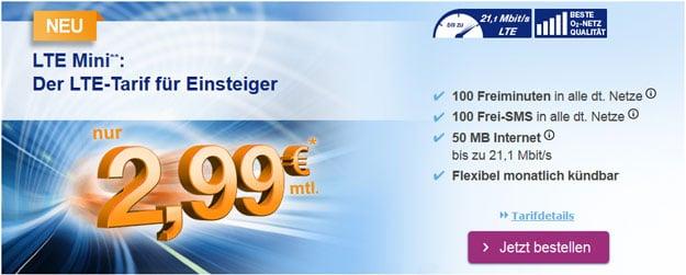 simplytel LTE Mini für 2,99 €