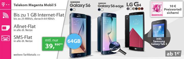 Telekom Magenta Mobil S mit Galaxy S6