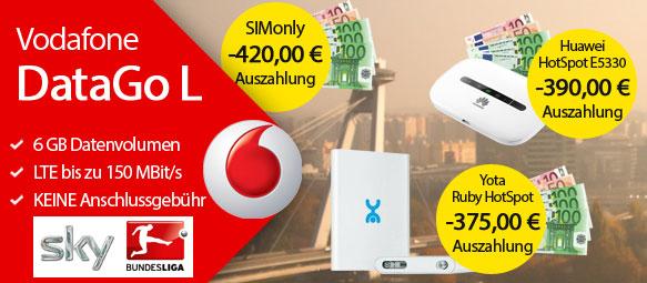 Vodafone Data Go L mit 420 € Auszahlung