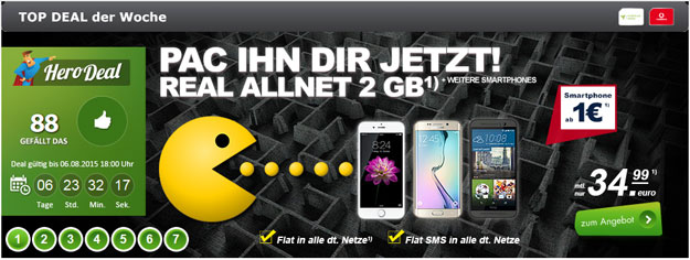 Vodafone Real Allnet 2GB Pacman