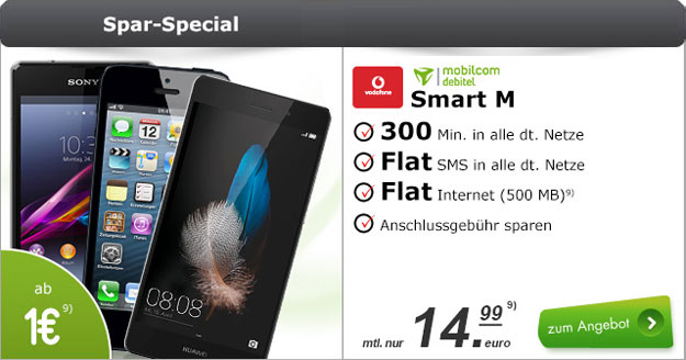 Vodafone Smart M (md) mit iPhone
