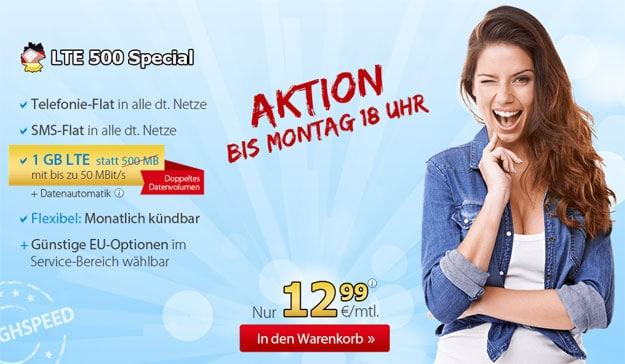 DeutschlandSIM LTE 500 Special