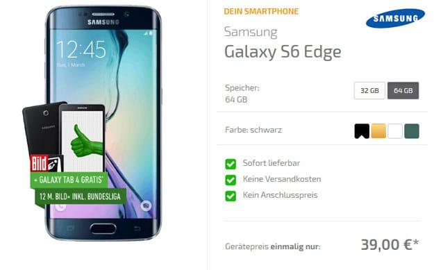 DeinHandy S6 Edge mit Vodafone Smart L