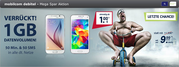 o2 Smart Surf Mega Aktion mit Samsung Galaxy S6