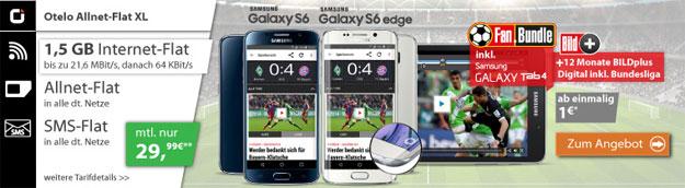 Samsung Galaxy S6 mit Fanbundle im Otelo XL mit 1,5 GB