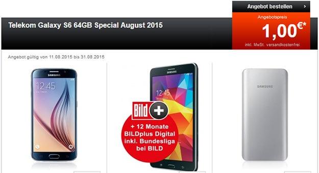 Samsung Galaxy S6, Tab 4 und Akku mit Magenta S