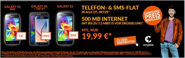 Samsung Preis Knaller mit Congstar Allnet Flat S