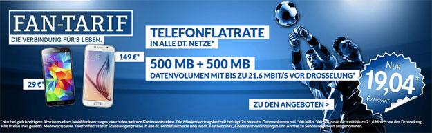 Schalke Fan-Tarif mit 2 GB Datenvolumen
