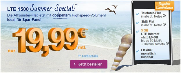 simply LTE 1500 im Summer Special