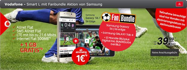 Vodafone Smart L mit 1 GB gratis und S6 Edge und Tab 4