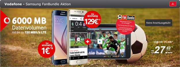 Vodafone DataGo L mit S6 im Fanbundle
