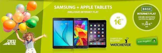 BASE Datentarif mit Tablet