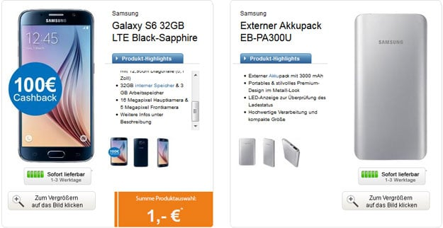Otelo Allnet-Flat M - Samsung Galaxy S6 + Akkupack