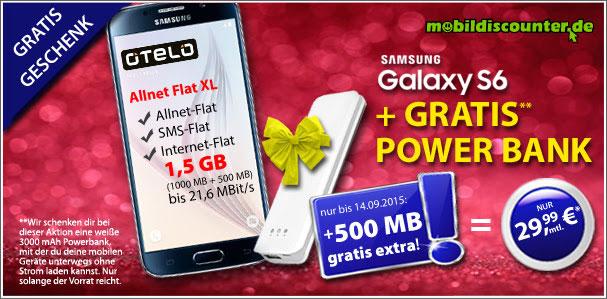Otelo Allnet Flat XL - Samsung Galaxy S6