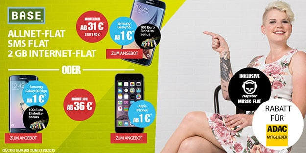 Base all in Promo mit Galaxy S6