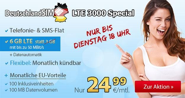 DeutschlandSIM inkl. 6GB Datenvolumen