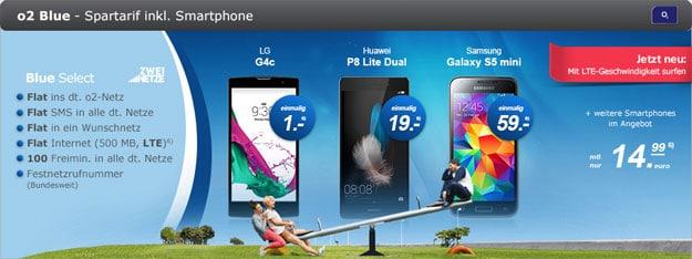 o2 Blue Select mit LG G4c
