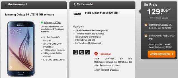 Otelo Allnet Flat M mit Galaxy S6