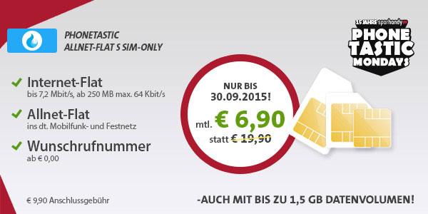 Phonetastic Allnet-Flat S ab 6,90 €