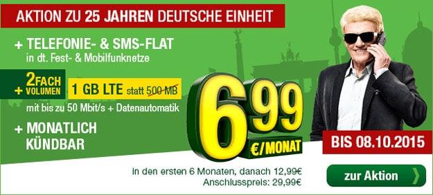 Smartmobil LTE Hammer für 6,99 € mtl.