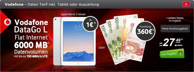 Vodafone DataGo L mit 360 Euro Auszahlung