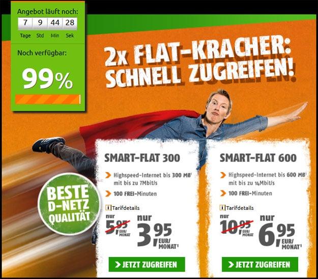 2-Flat-Kracher von Klarmobil bei Crash