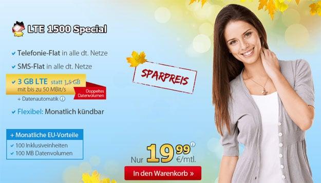DeutschlandSIM LTE 1500 Special Herbst
