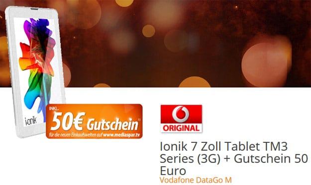 ionik 7 Tablet mit DataGo M und Gutschein