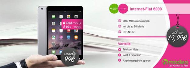 Telekom Flat 6000 (md) mit iPad Mini 3