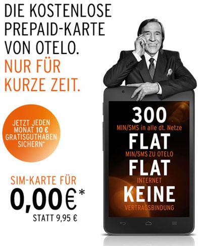 otelo Freikarte Vodafone Prepaidkarte kostenlos