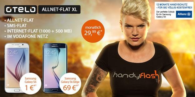 Otelo Allnet-Flat XL mit 1,5 GB und Samsung Galaxy S6
