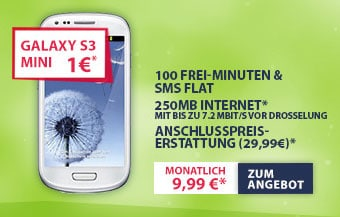 Samsung Galaxy S3 Mini mit Talk Light 100