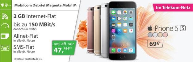 Telekom Magenta Mobil M (md) mit iPhone 6S