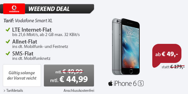 Vodafone Smart XL 2GB iPhone 6S