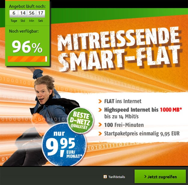 Smart Flat Klarmobil Crash Tarife