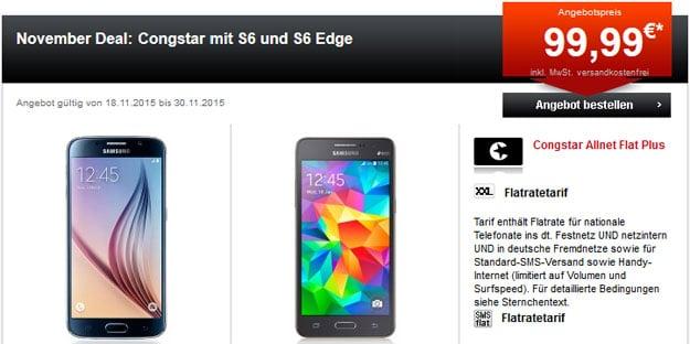 Congstar Allnet Plus mit S6 und S6 Edge