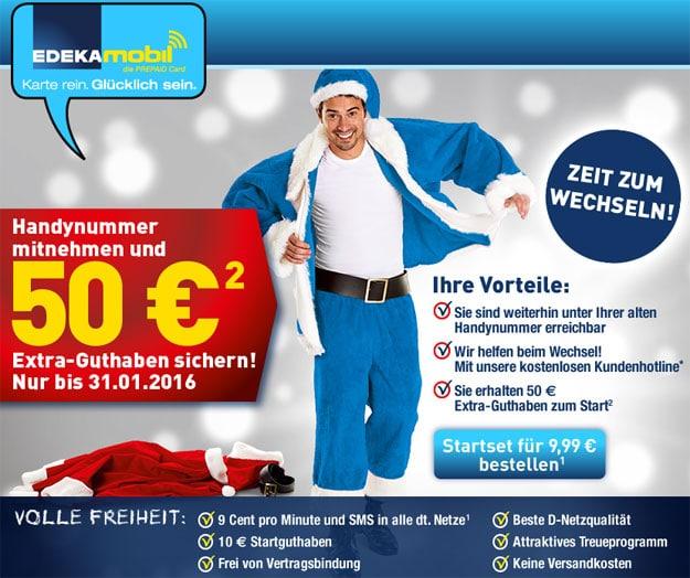 Edeka Mobil mit 50 € Guthaben