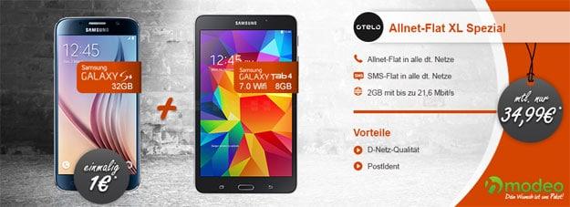 Galaxy S6 mit Tab 4 und Otelo XL