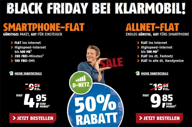 Klarmobil Black Friday für 4,95 €