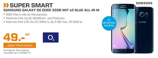 o2 Blue all-in M mit Samsung Galaxy S6 Edge