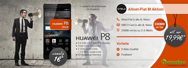 Otelo Allnet-Flat M mit Huawei P8