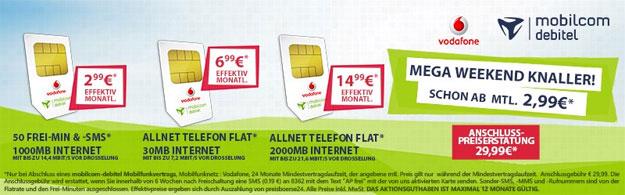 Preisboerse24 mit Vodafone-Knaller